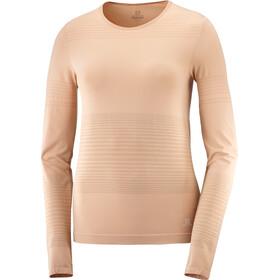 Salomon Elevate Move On LS skjorte Damer, beige